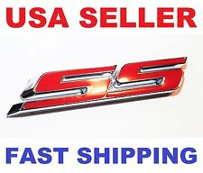 """New Red """"SS"""" Side Fender Trunk Emblem Badge Decal for Chevy IMPALA COBALT Camaro"""
