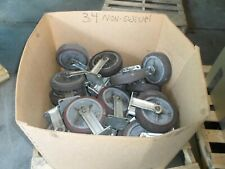 """Colson 8"""" Outer Dia. 1½"""" Wide Non-Swivel Casters Lot Of 34"""