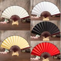 NEW Hand Held Chinese Floral Lace Silk Folding Unisex Wedding Dancing Party Fan