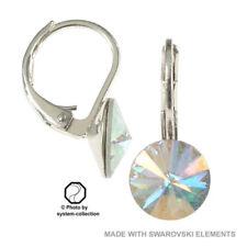 Handgefertigter Mode-Ohrschmuck mit Kristall-Hauptstein und Schnappverschluss