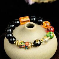 New  Feng Shui Obsidian Beads Pi Yao Pi Xiu Five Elements Wealth Prosperity