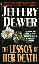 The Lesson of Her Death by Jeffery Deaver (1994, Paperback) DD2253