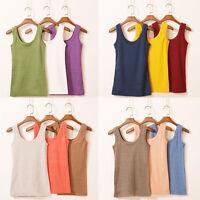 Women Cotton Sleeveless Tank Tops Camisole T-Shirt Summer Vest Top Blouse