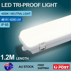 120CM LED Tri-proof Light 48W Batten Garage Work Shop Light Basement 4250LM