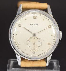 Vintage MOVADO Cal.75, snap 35mm case, mens 40's watch