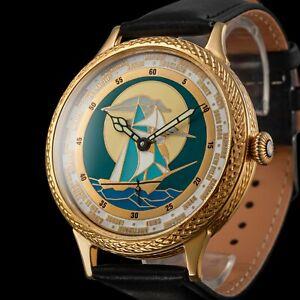 Men's Design Wrist Watch Vintage Mechanical 17J Restored Swiss Zenith Movement ⌚