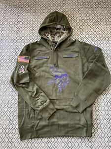 Minnesota Vikings OnField Apparel Salute to Service Sweatshirt size XL NWT