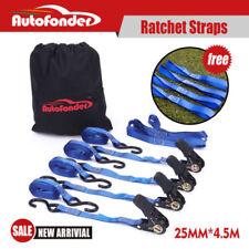 Ratchet Tie Down Straps (4 Packs) 25mm x 4.5m /LC:400KG/Heavy Duty AU STOCK