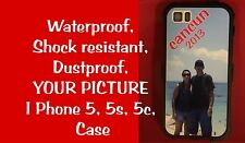 Personalized Your picture  Waterproof Iphone SE 5 5s 5c White Case