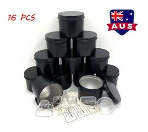 16PCS Candle Making Tins Candle Jars 100ml Metal For Wax Soy Making Container