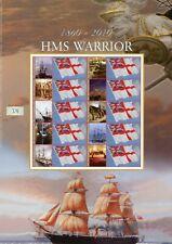 2010 HMS warrior 150th Anniversary 1860-2010 Smiler Sheet. BC-289