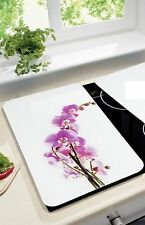 Herdabdeckplatte Orchidee Blüte WENKO Herd Wandblende Motivplatte Spritzschutz