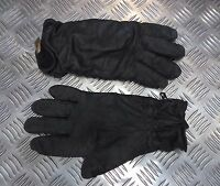 Genuine British Military Black Leather Combat Gloves MK2 MVP - Grade 2