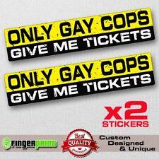 GAY COPS sticker decal vinyl jdm funny bumper car speed 4x4 drift race Jeep bike