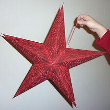 Diwali, Noël & Marriage 5 Point Étoile Abat Jour Paisley Rouge