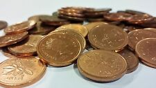 FULL ROLL 2002 NO P NON MAGNETIC CANADA ONE CENT PENNIES CIRCULATED