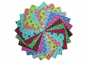 10 10 Inch Geo Storm Quilting Fabric Squares /Layer Cake Pack By Benartex