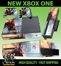 XBOX ONE Console Sticker Battlefield 1 One Warfare Shooter SKIN & 2 PAD SKINS