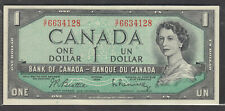 1954 #BC-37b-i $1.00 QUEEN  ELIZABETH II MODIFIED PORTRAIT NOTE G/F PREFIX AU+