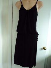 MATALAN PAPAYA BLACK DRESS SIZE 8 - ELASTIC WAIST, TIES AT SIDE  - NEW WITH TAGS