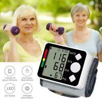 Digital Wrist Blood Pressure Monitor Fingertip Pulse Oximeter Heart Rate Monitor