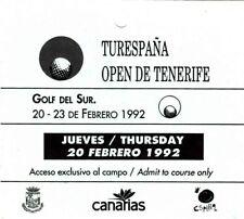 BIGLIETTO-GOLF-TENERIFE aperto il 20-23 FEBBRAIO 1992