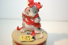 Charming Tails Figurine - All I Can Give You Is Me - Mouse - Red Ribbon - Spool