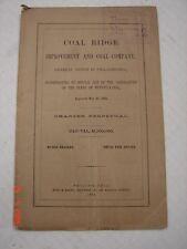 LVRR Coal Ridge Improvement & Coal Co. 1864 MAP Ashland, Pa Mount Carmel,Pa