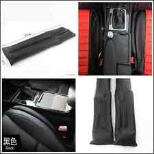 2Pcs Black Non-leather Car SUV Seat Gap Filler Soft Pad Blocking Holster Blocker