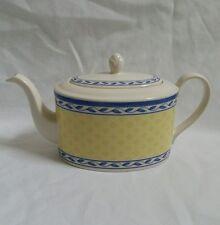 ❀ ڿڰ ❀ Hecho en Inglaterra Azul Y Amarillo Hoja Y Diamante Azulejo Diseño Tetera ❀ ڿڰ ❀ Oferta