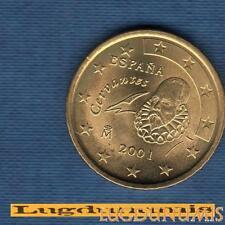 Espagne 2001 50 Centimes D'Euro SUP SPL Pièce neuve de rouleau - Spain