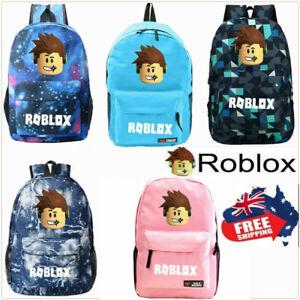 Boys Girls Roblox School Bag Backpack Rucksack Shoulder Bags Handbag Travel 2021