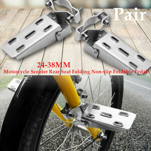 24-38MM Motorcycle Scooter Rear Seat Folding Pedal Leg Support Foot Lever Kit