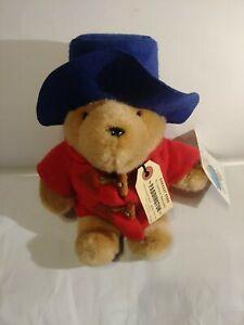 "Vintage Eden Paddington Bear Plush Large 10"" W/ Red Jacket and tags"