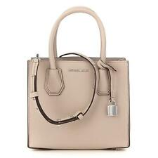 Michael Kors Mercer Cement Leather Medium Satchel Handbag 30F6SM9M2L-092 $228