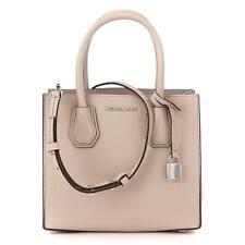 Michael Kors Mercer Cement Leather Medium Satchel Handbag 30F6SM9M2L-092 $228