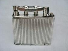 Rare Silver Plated Vintage Dunhill Lighter With Integrated Compact.