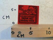 STICKER,DECAL CARNAVAL TEKSTEN IN DE HEMEL IS GEEN BIER DRINK HET DAAROM HIER