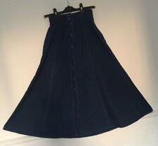 Vintage St Michael Denim Skirt  Size 8 Wide Long Maxi