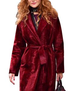 Women's Nicole Kidman The Undoing Trench Sachs -Green and Red Trench Coat