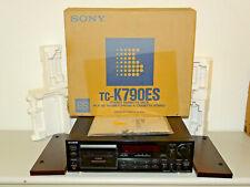Sony tc-k790es high-end pletina de casete con holzwangen, ovp&neu, 2j. garantía