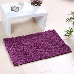 Soft Microfiber Shaggy Bathroom Rug Shower Mat Non Slip Absorbent Floor Bath Mat
