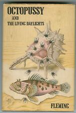 IAN FLEMING Octopussy and the Living Daylights FIRST EDITION with Dust Jacket
