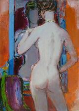 """Guily JOFFRIN (1909-2007) HsT 46x33cm 60' """"Nu""""  Nl Ecole de Paris Jeune Peinture"""