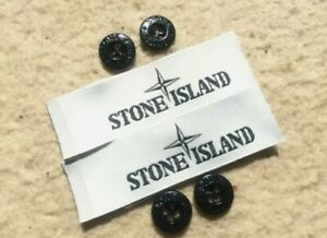 4 Stone Island Replacement Buttons and 2 Neck Label 100% Authentic!