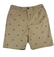 Croft Barrow Womens Size 14 Large Bermuda Tan w Lobster Chino Short Stretch NEW