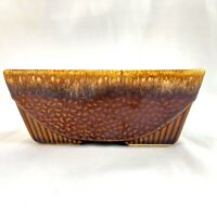 """USA 75 Brown Drip Rectangle Planter 6.5x3"""" Patterned"""