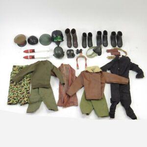 Vintage Action Man Clothes & Helmets Bundle Military Themed Accessories Joblot