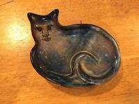 Unique North Eagle Pottery Trinket Dish Bowl Cat Shaped