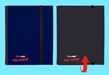 ULTRA PRO FLIP BLACK BLUE PRO-BINDER 160 Cards 20 Side Load Pages MTG Book Album